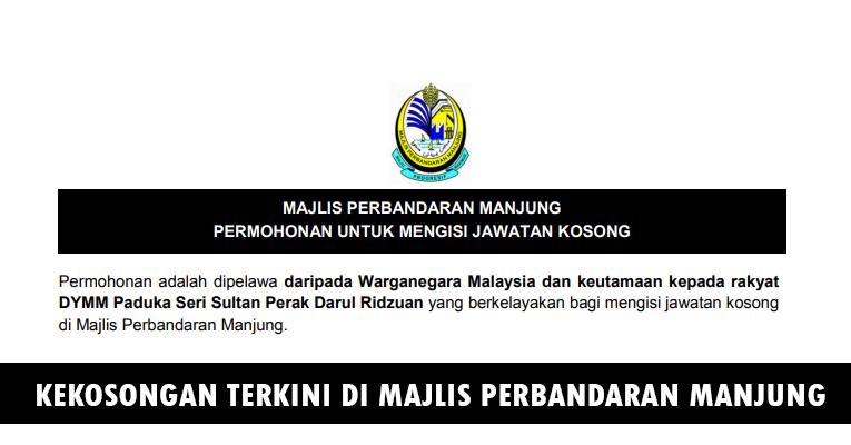 Kekosongan Terkini di Majlis Perbandaran Manjung (MPM)