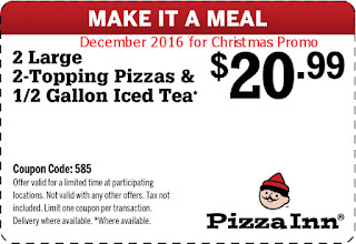 Pizza Inn coupons december