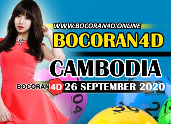 Bocoran 4D Cambodia 26 September 2020