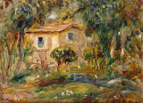 Landscape. Le Cannett by Pierre-Auguste Renoir - Landscape Paintings from Hermitage Museum