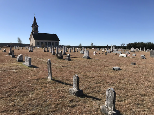 the old norwegian cemetery at st olafs old rock church, clifton, tx