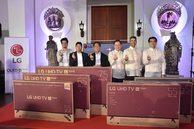 (L-R) Cinematographer Pong Ignacio and Director JP Habac of TBA Studios, IA Administrator Atty. Guiller Asido, LGEPH Managing Director Mr. Inkwun Heo, LG Brand Ambassador Mr. James Deakin, and LGEPH Vice-President for Home Electronics Mr. Tony An