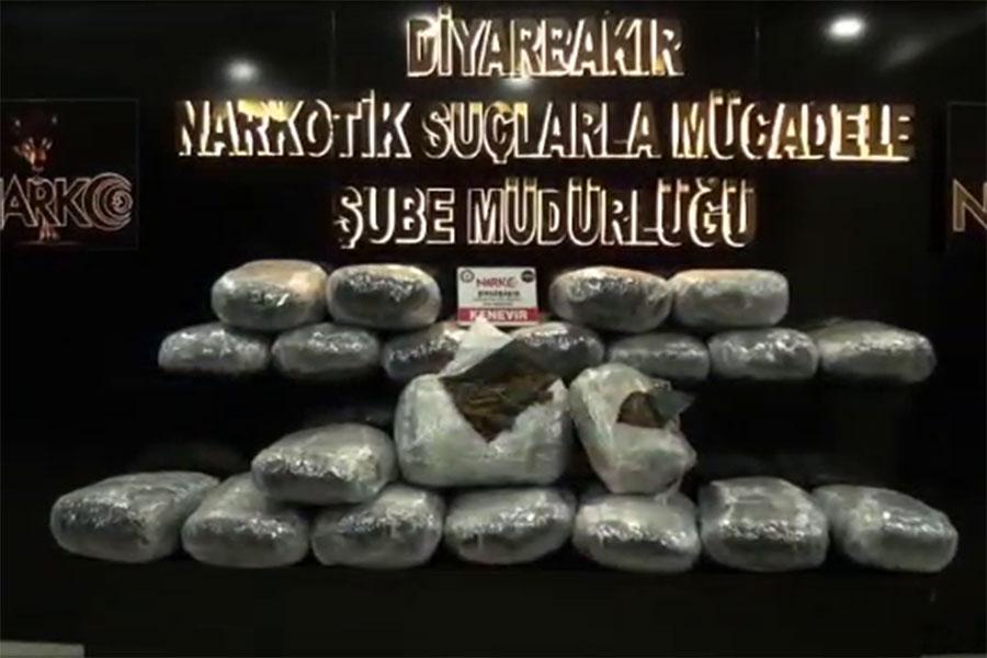 Diyarbakır'da uyuşturucu operasyonu 38 gözaltı