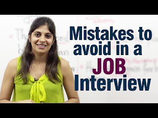 Mistakes to avoid during a job interview