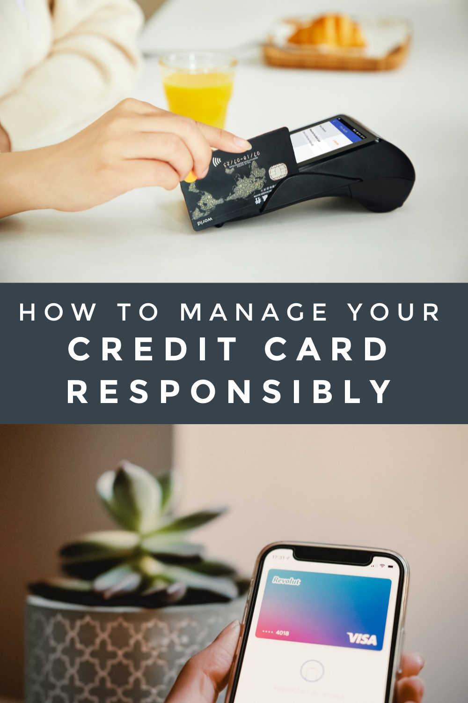 CREDIT CARD RESPONSIBLY