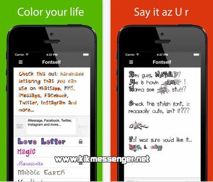 Descarga Fontself Pix gratis para tu iPhone con Kik Messenger.