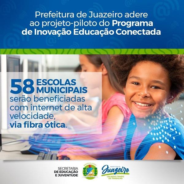 Prefeitura de Juazeiro adere a projeto-piloto do Governo Federal para implantação de internet de alta velocidade nas escolas - Portal Spy Notícias Juazeiro Petrolina 2