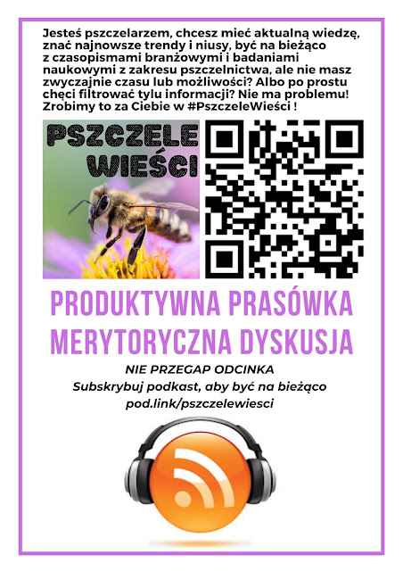 Plakat poskastu #PszczeleWieści