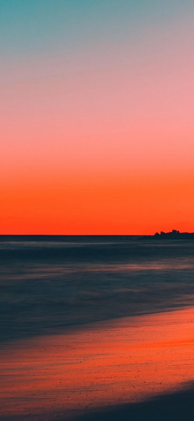 Sunset Beach Sea Horizon Scenery 8k Wallpaper 165