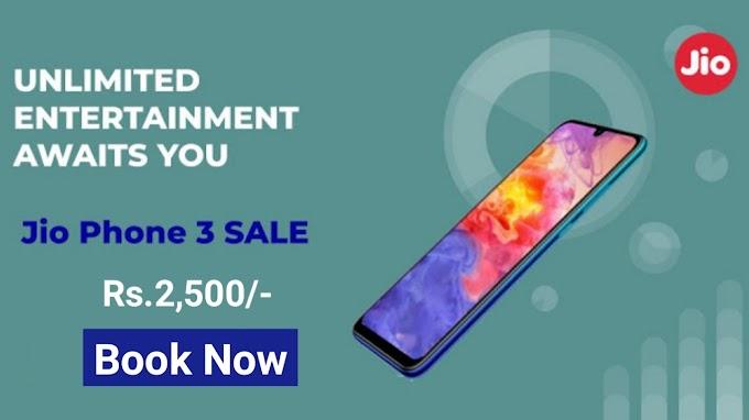 Jio Phone 3 Online Booking 2019