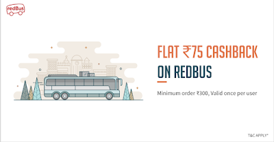 RedBus FreeCharge Cashaback Offer