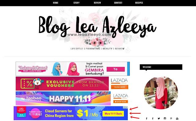 Iklan Adsense Telah Muncul Di Blog Lea Azleeya, iklan, adsense, google adsense, iklan di blog