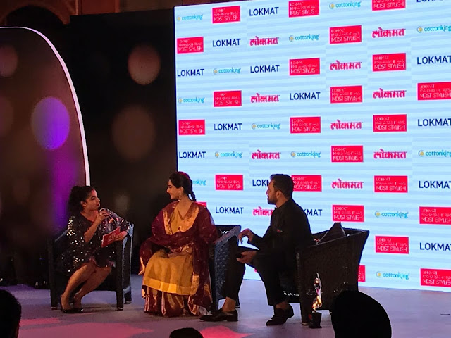 RJ Malishka Interviews Actor Sonam Kapoor and Producer Atul Kasbekar at the Lokmat Maharashtra's Most Stylish Awards-min
