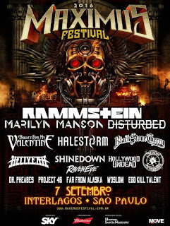 Rammstein, Marylin Manson Brasil 2016