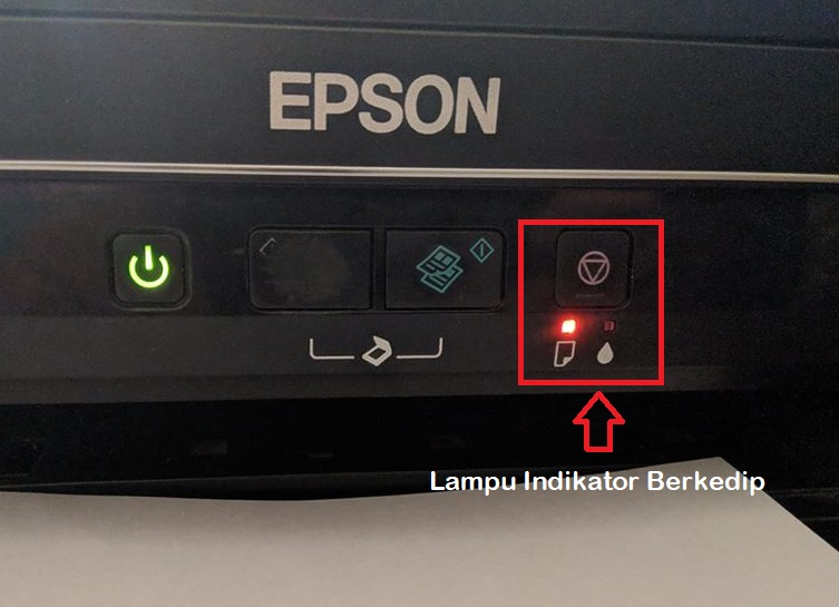 lampu indikator berkedip epson L360 reset