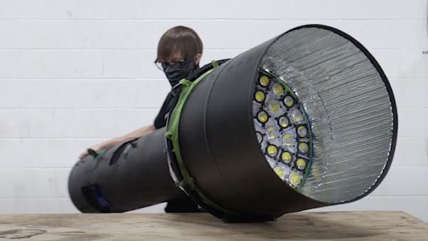 Canadian YouTuber's team creates world's brightest outsized flashlight