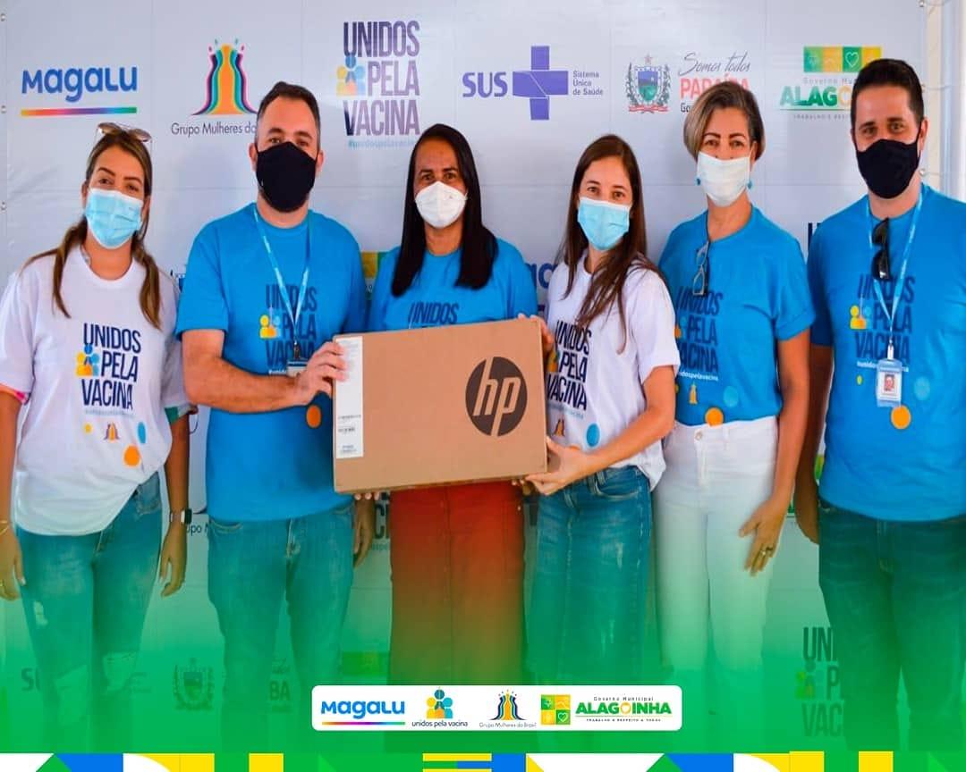 Projeto Unidos Pela Vacina visita Alagoinha e prefeita aguarda novas doses da Covid-19
