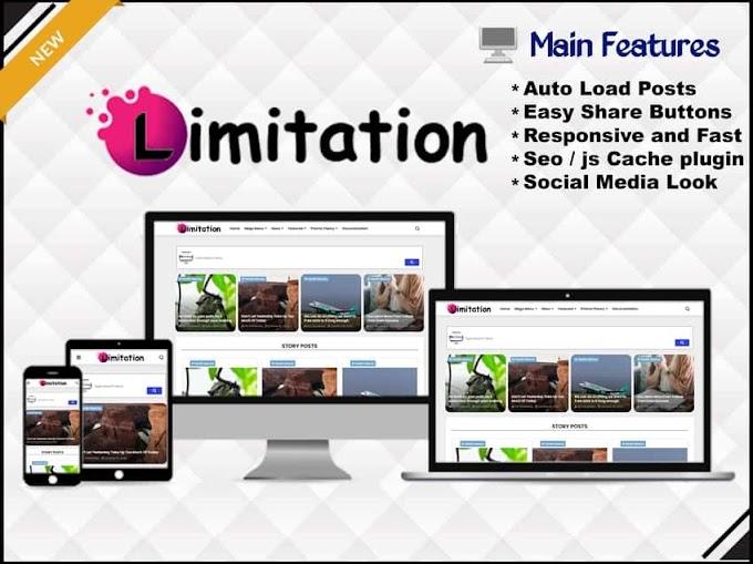 Limitation Template - Responsive Blogger Template