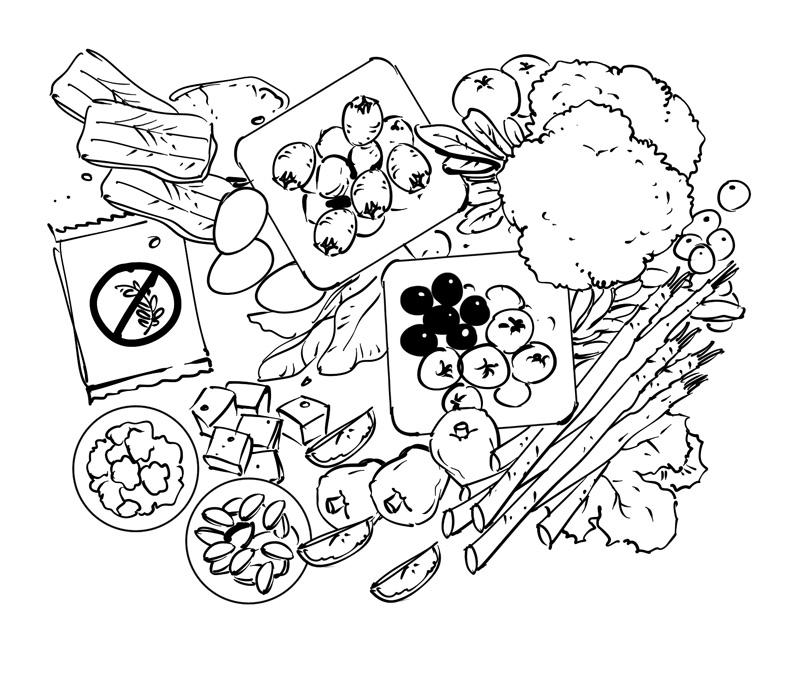 gluten free diet health and nurition book illustration