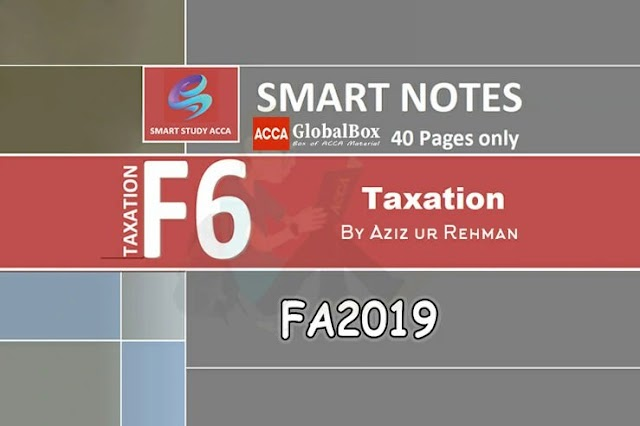 Smart Notes | F6 - TX (UK) | FA2019 | by Aziz ur Rehman | 20/21