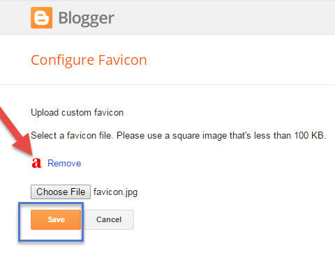 How To Upload Custom Blogger Favicon Image