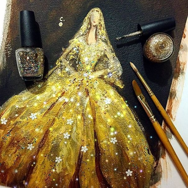 05-Chan-Clayrene-Artclaytion-Haute-Couture-Paintings-using-Nail-Polish-and-Brushes-www-designstack-co