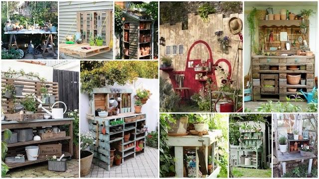 DIY Τραπέζια - Πάγκοι Κηπουρικής