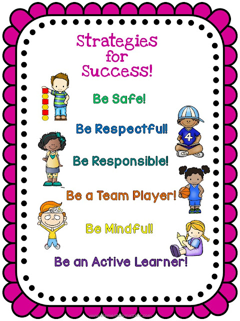 Strategies for Success: Be Safe, Be Respectful, Be Responsible, Be a Team Player, Be Mindful, and Be an Active Learner