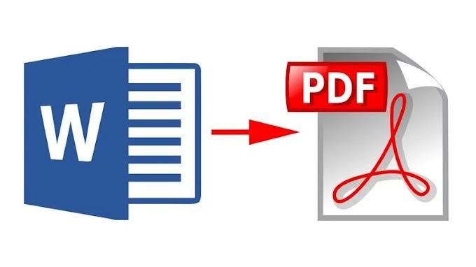 Cara Merubah File Word Menjadi PDF Mudah
