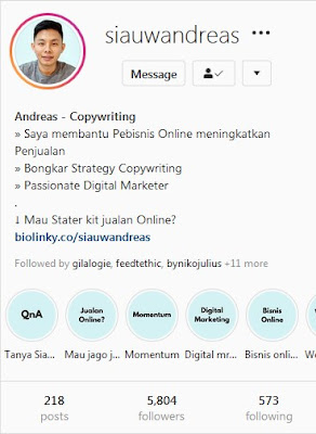 belajar copywriting di instagram