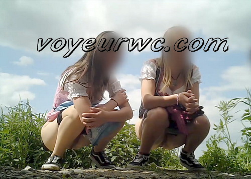 Girls taking piss outdoor at beer festival SpyCam (Beer Festival Piss 2019_057)
