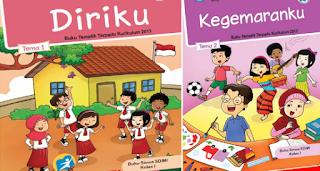 Kumpulan Buku K13 revisi 2017 Terbaru untuk kelas Satu SD/MI semester 1