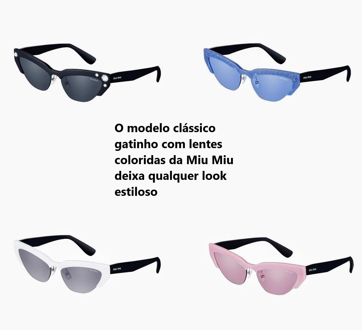 0e4b7ae55 Este óculos da nova coleção Prada é diferente, divertido e sofisticado. A  armação produzida em metal tem estrutura fina e linear, as decorações tomam  forma ...