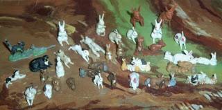 Britains Cat; Britains Farm; Britians Rabbits; Cherila Rabbits; Farm Cat; Hong Kong Rabbits; Plastic Rabbits; Rabbit; Rabbit Family; Rabbit Pair; Rabbits; Small Scale World; smallscaleworld.blogspot.com; Taylor Cat; Taylor Rabbits; Timpo Cat; Timpo Rabbits; Toy Rabbits;