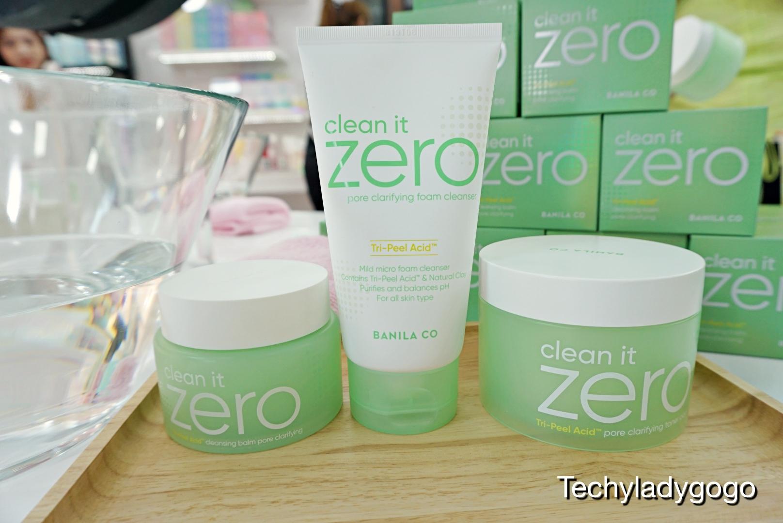 Banila Co Clean It Zero Pore Clarifying Collection เซทล้างหน้าสีเขียว สำหรับผิวมัน