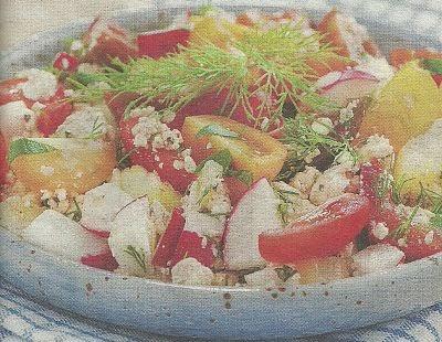 Способ приготовления и ингредиенты для салата