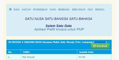 Download Prefill Dapodik Untuk Menjalankan Aplikasi PMP 2018.07