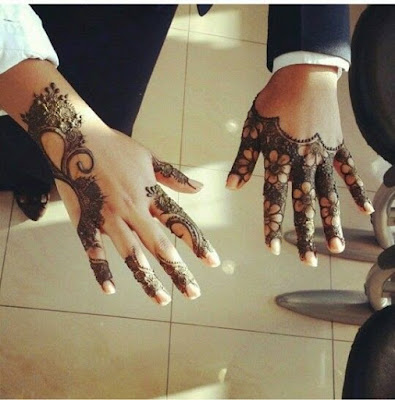 Simple and Latest Mehndi Design For Fingers
