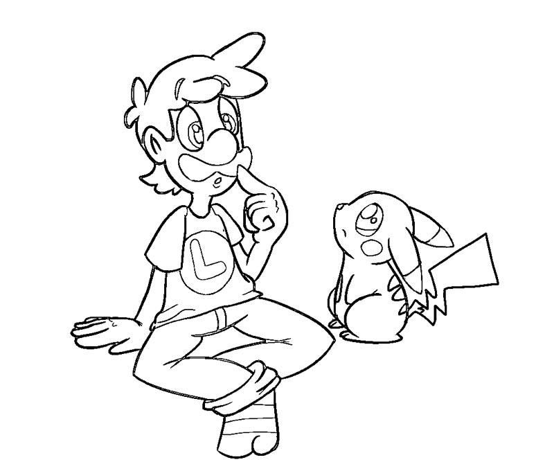 Luigis Mansion Dark Moon - Free Coloring Pages