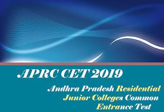 APRJC CET 2019 : Notification, Exam date, Online Application form, Eligibility, Exam pattern