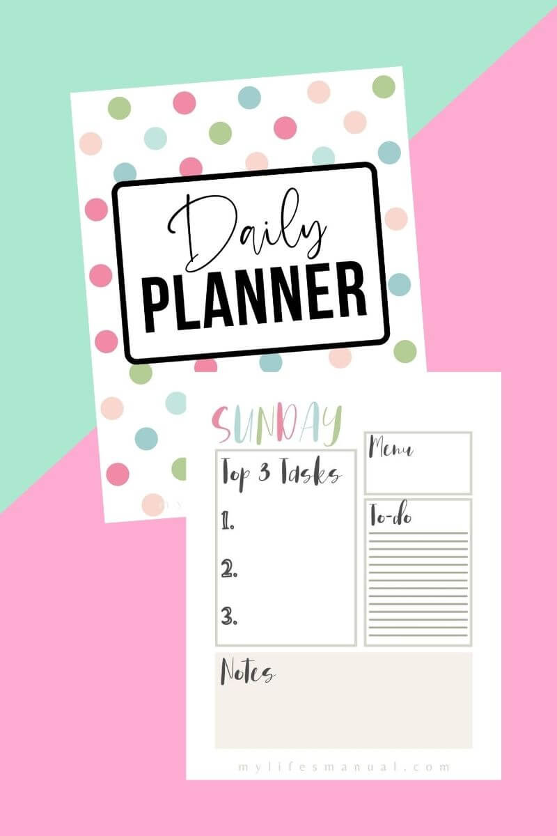 Free daily planner for moms
