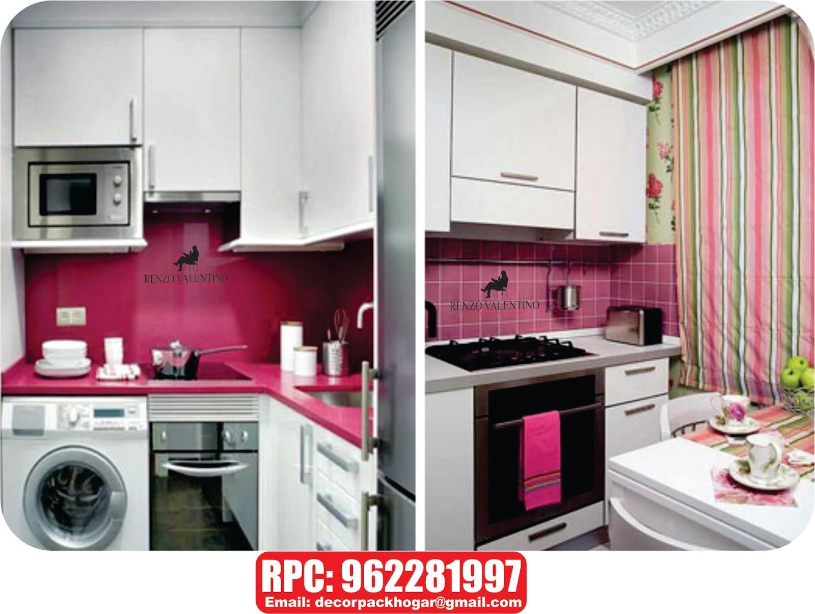 Dise os fabricacion de closet cocina y muebles de oficina for Cocinas modernas espacios pequenos