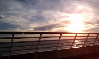 Cape May Lewes Ferry Sunset cruise photograph, water Delaware Bay