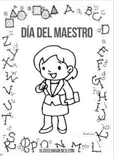 dibujos de niños dia del maestros, maestras