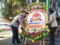 Upacara Ziarah Rombongan Peringatan Hari Bhayangkara Ke 75 Tahun 2021 Polres Ponorogo