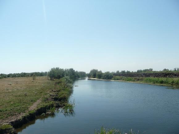Река Волчья. Дренажный канал