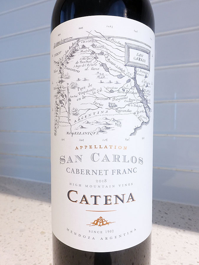 Catena Appellation San Carlos Cabernet Franc 2018 (91 pts)