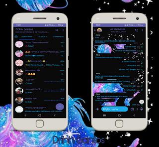 Black Planetas Theme For YOWhatsApp & Fouad WhatsApp By Driih Santos
