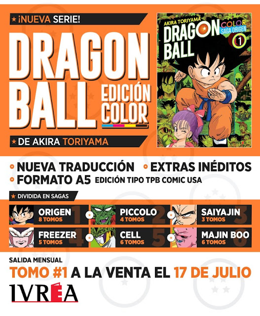 Editorial Ivrea licencia Dragon Ball - Edición Color