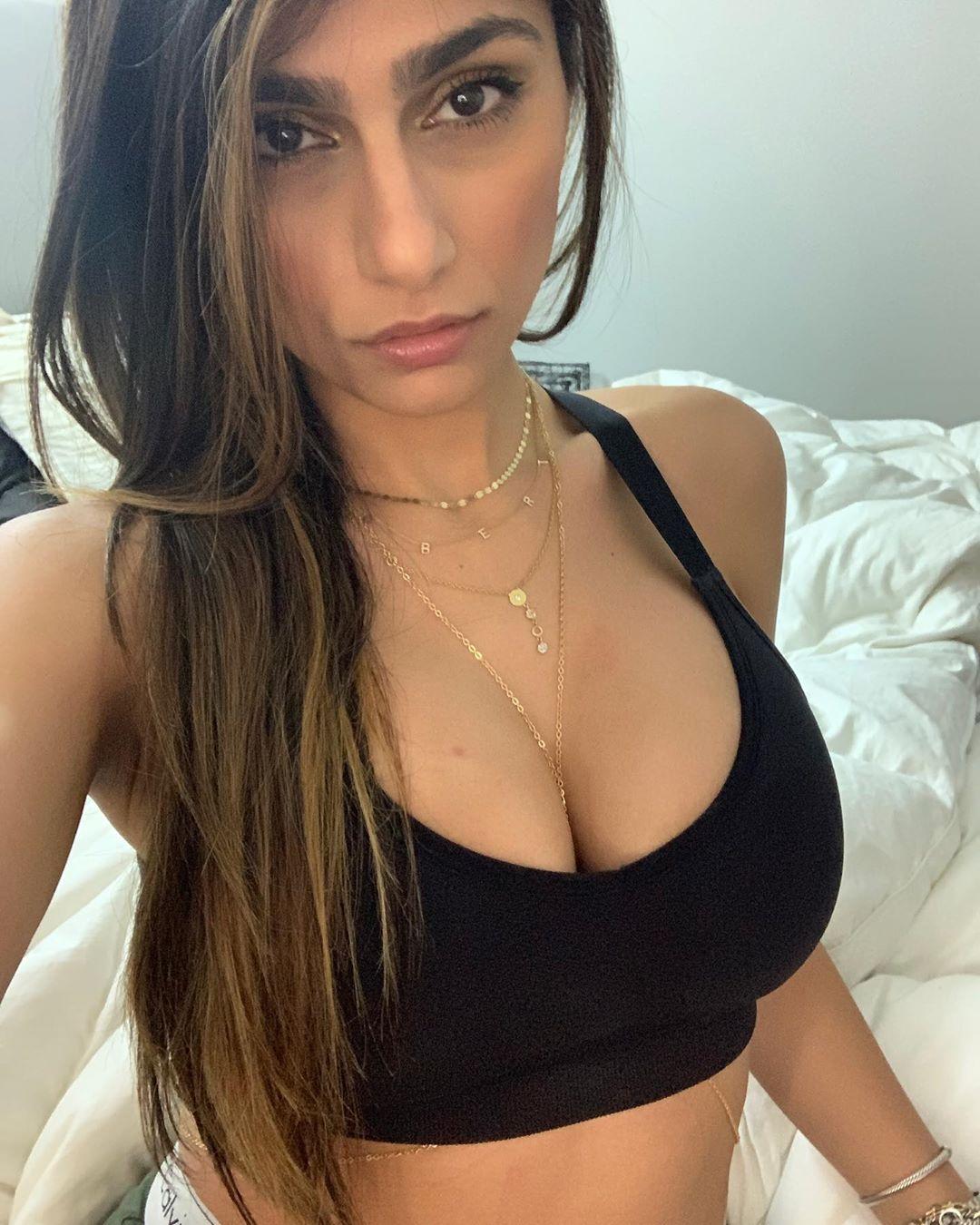 Mia Khalifa Latest Sexy Stills in Sports Bra